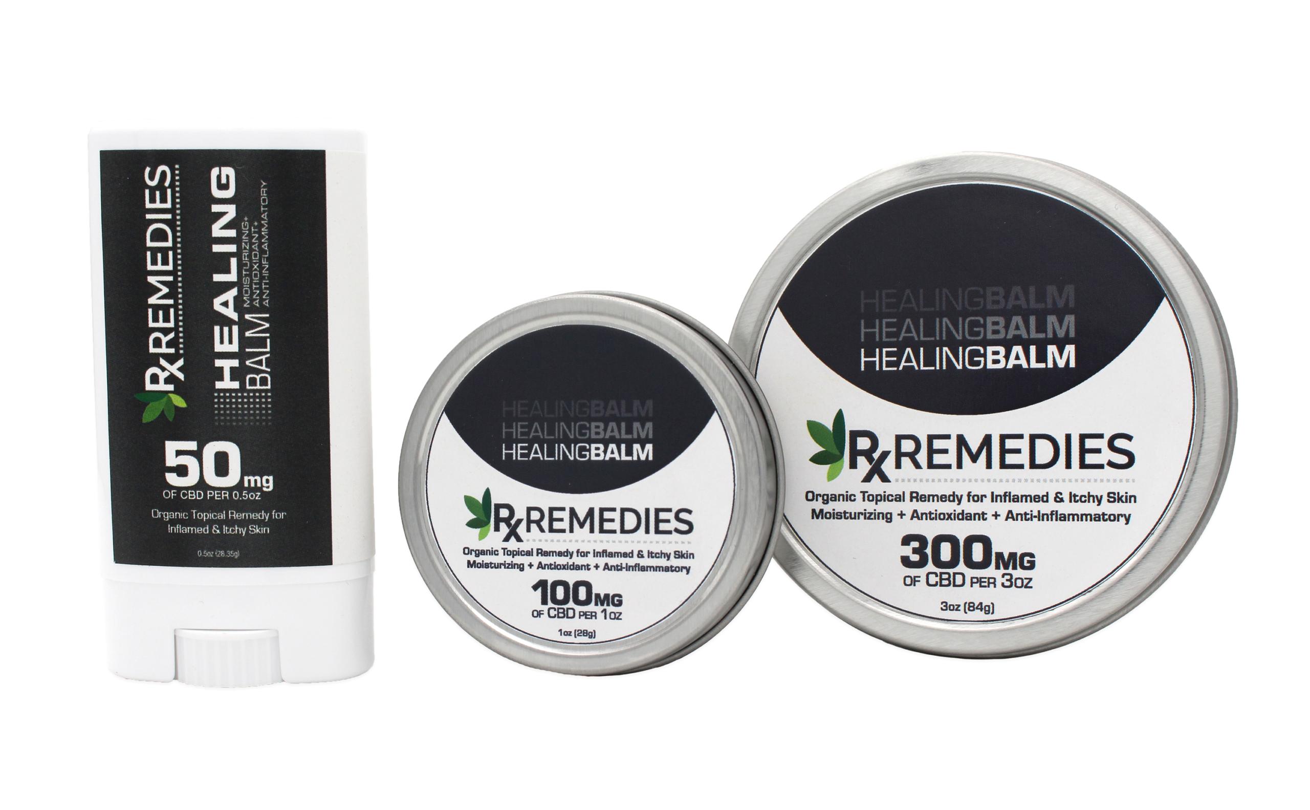 Rx Remedies, Healing Balm Group, 100mg/oz