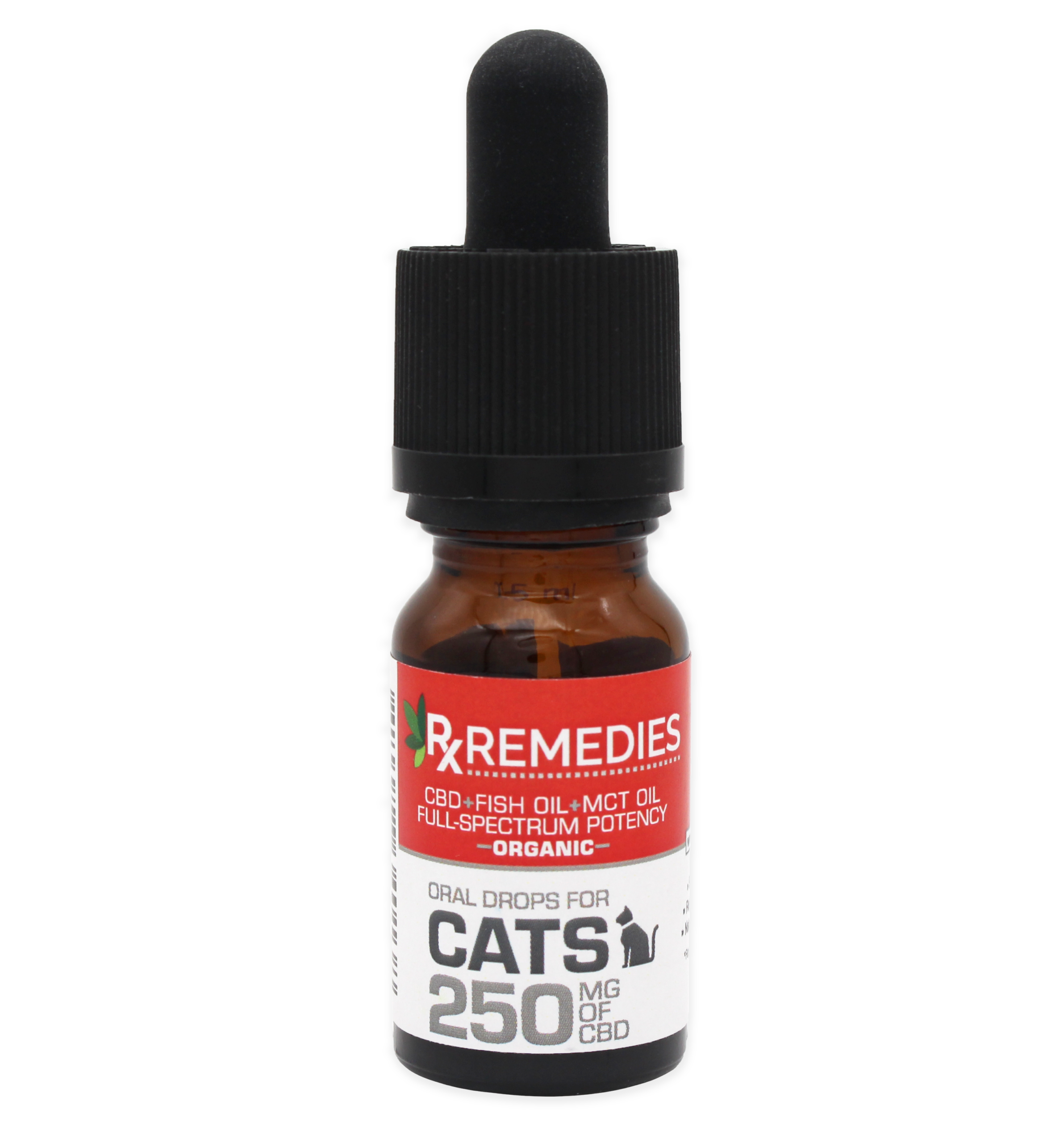 Rx Remedies, Oral Drops for Cats, 250mg/10mL