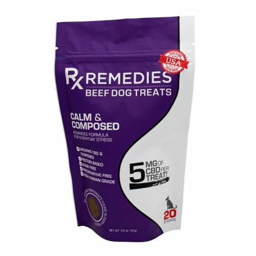 Rx Remedies, Calm&Composed Dog Treats, 5mg of CBD
