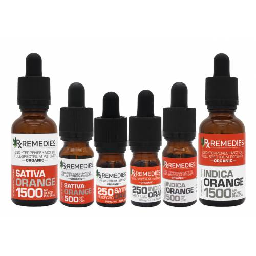 Rx Remedies, Sublingual Drops, Full-Spectrum, Orange