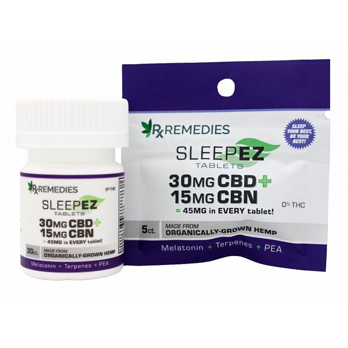 CBD, CBN, SleepEZ Tablets