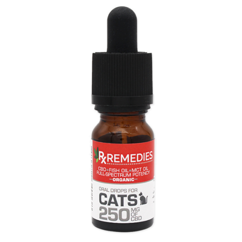 Rx Remedies, Cat Oral Drops, 25mg/mL, anxious cat, cat pain, cbd for cats
