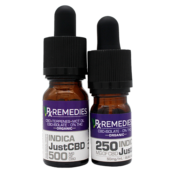 Rx Remedies, JustCBD, 50mg/mL, Indica, Group