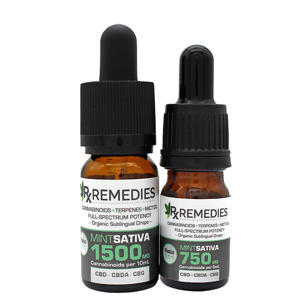 Rx Remedies, MultiCannabinoid, Mint, 150mg/mL, Sativa, Anxiety, Pain, Inflammation, Depression