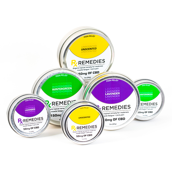 Rx Remedies, CBD Topicals, Pain and Inflammation Relief, Lavender, Wintergreen, Unscented, 1oz and 3oz